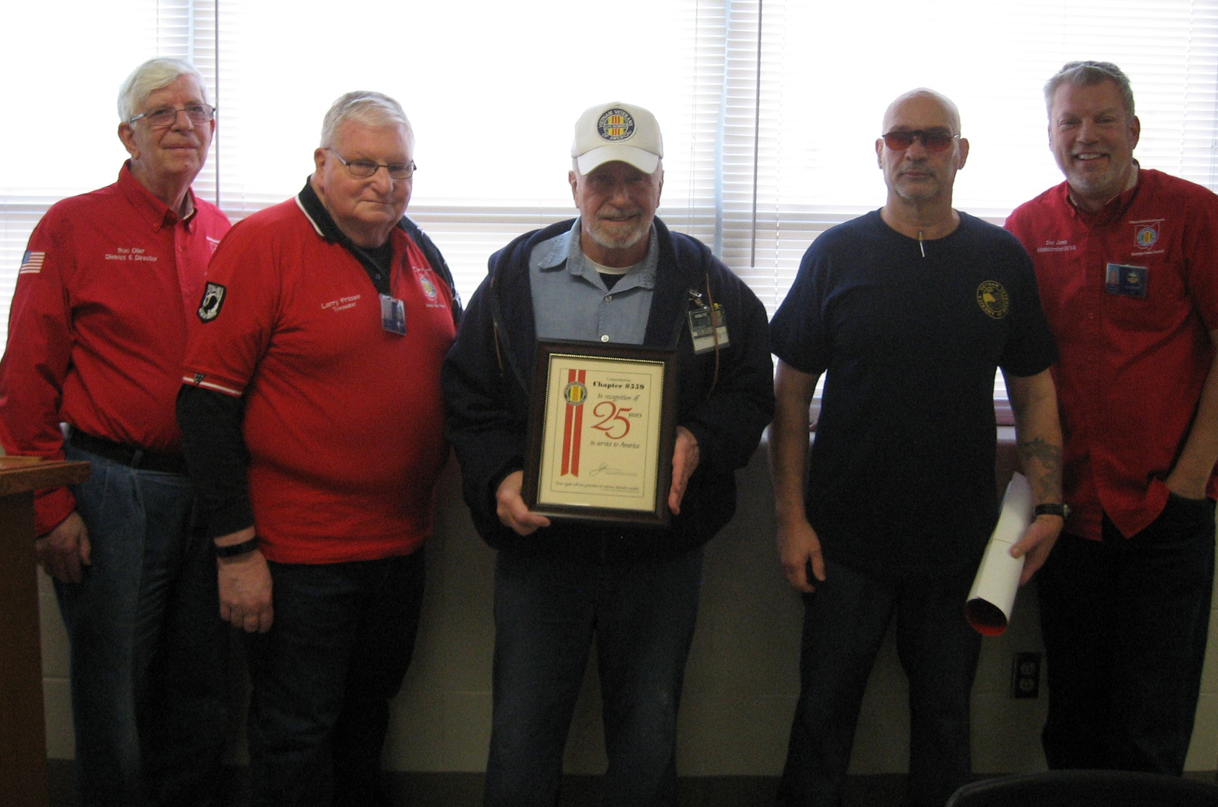 GCI's VVA Chapter 559 Receives 25 Years Award