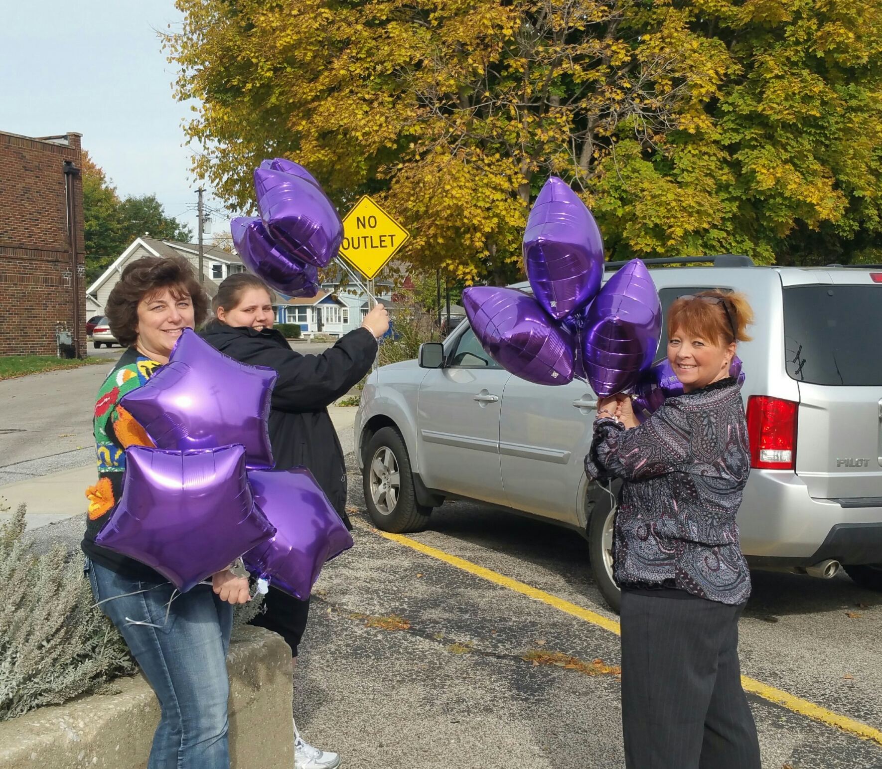 Adult Parole Authority Releases Purple Balloons