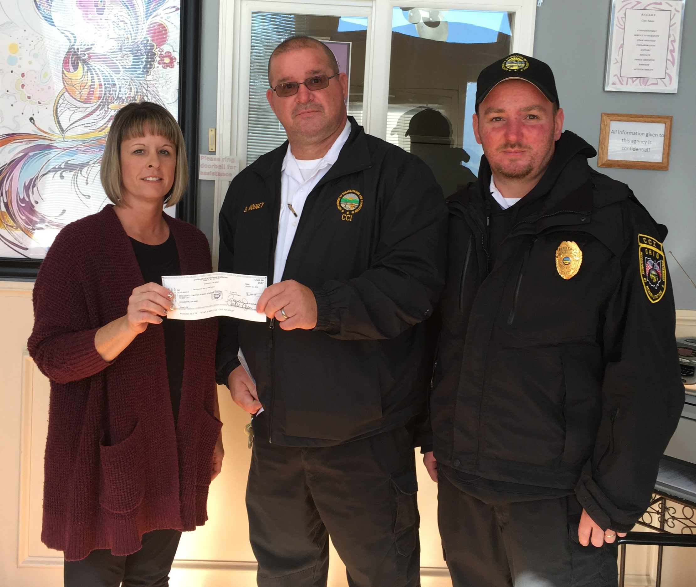 Helping Hands Group Donates to Violence Shelter