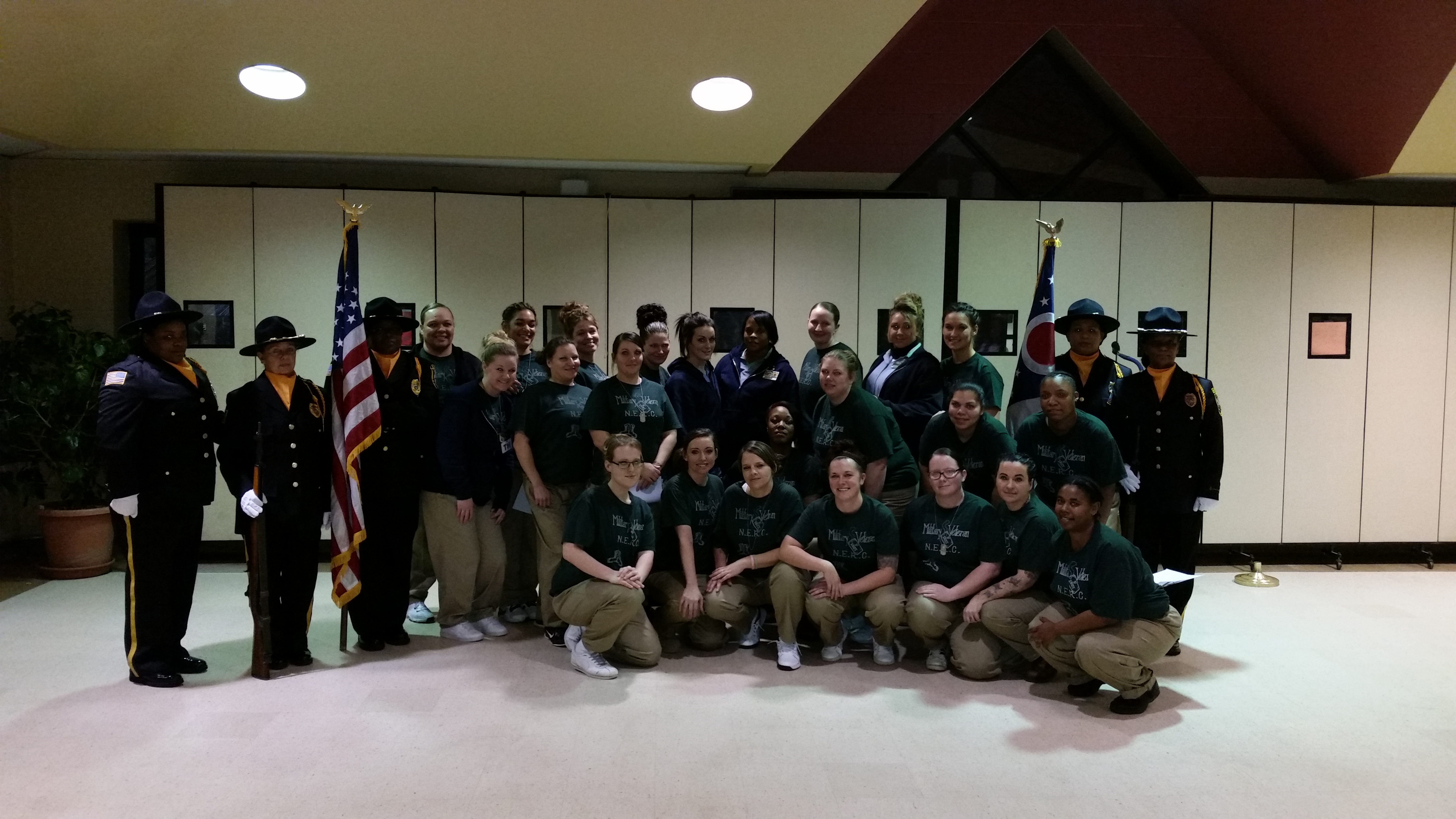 Lorain Correctional Honor Guard Supports NERC Military Program Graduation