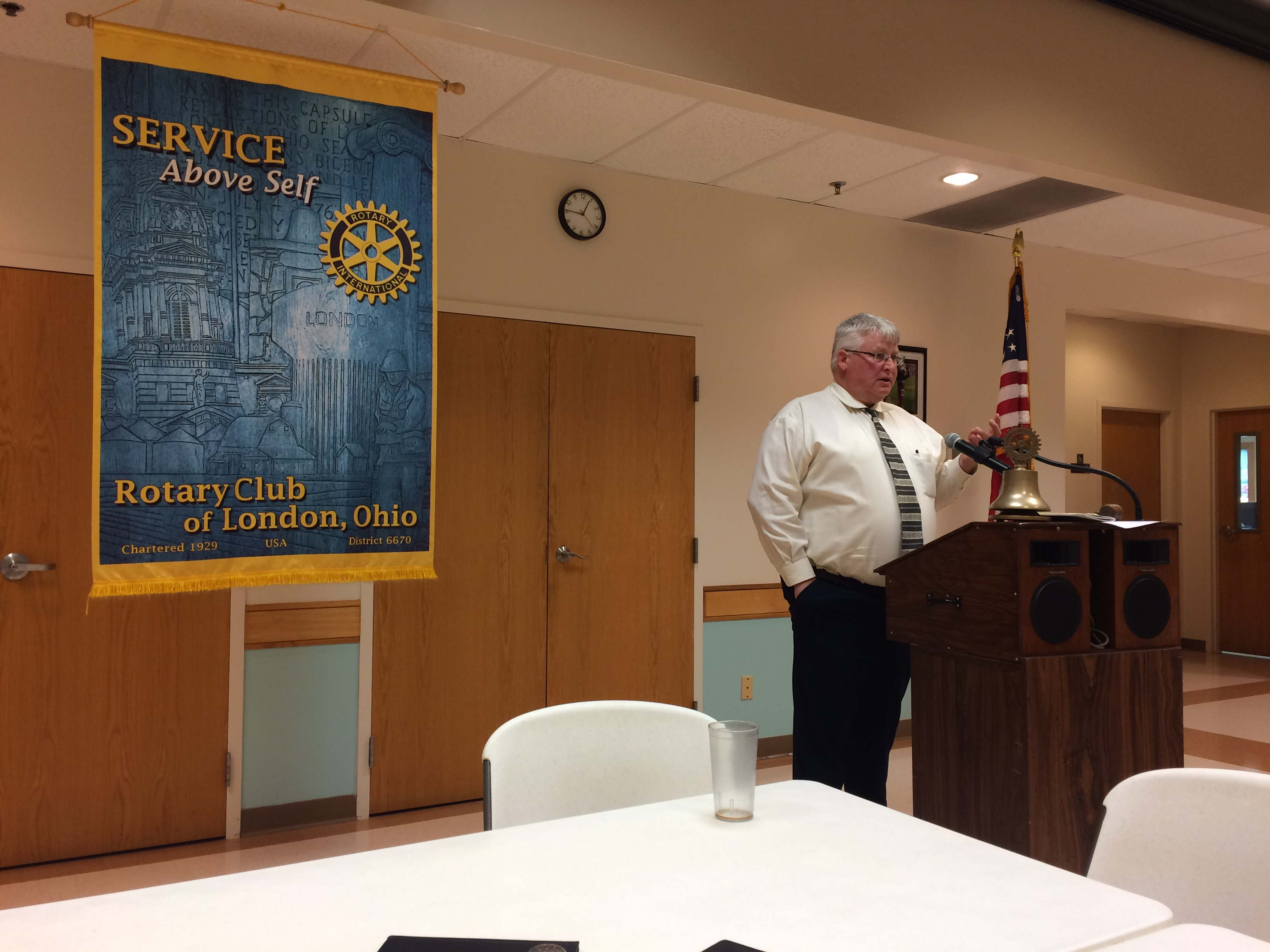 LoCI Warden Speaks at London Rotary Club