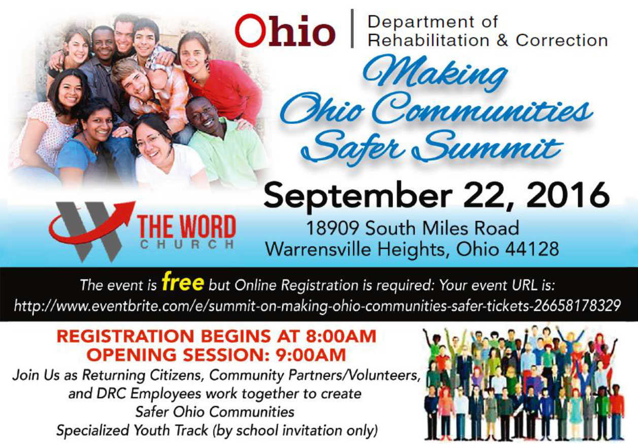 Join the ODRC for the Making Ohio Communities Safer Summit