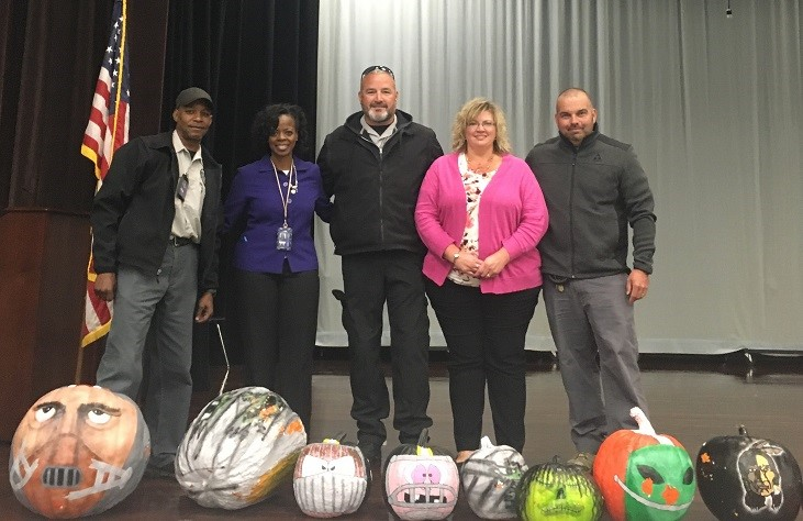 Pumpkins From TCI's Garden Donated to Local School