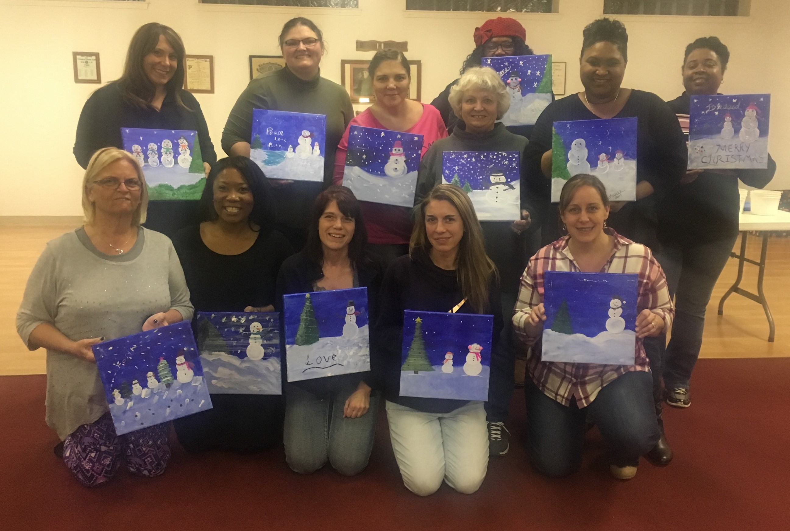 Women in Corrections Paint Night