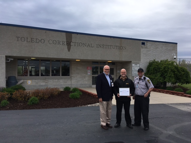 Warden Presented with Patriot Award