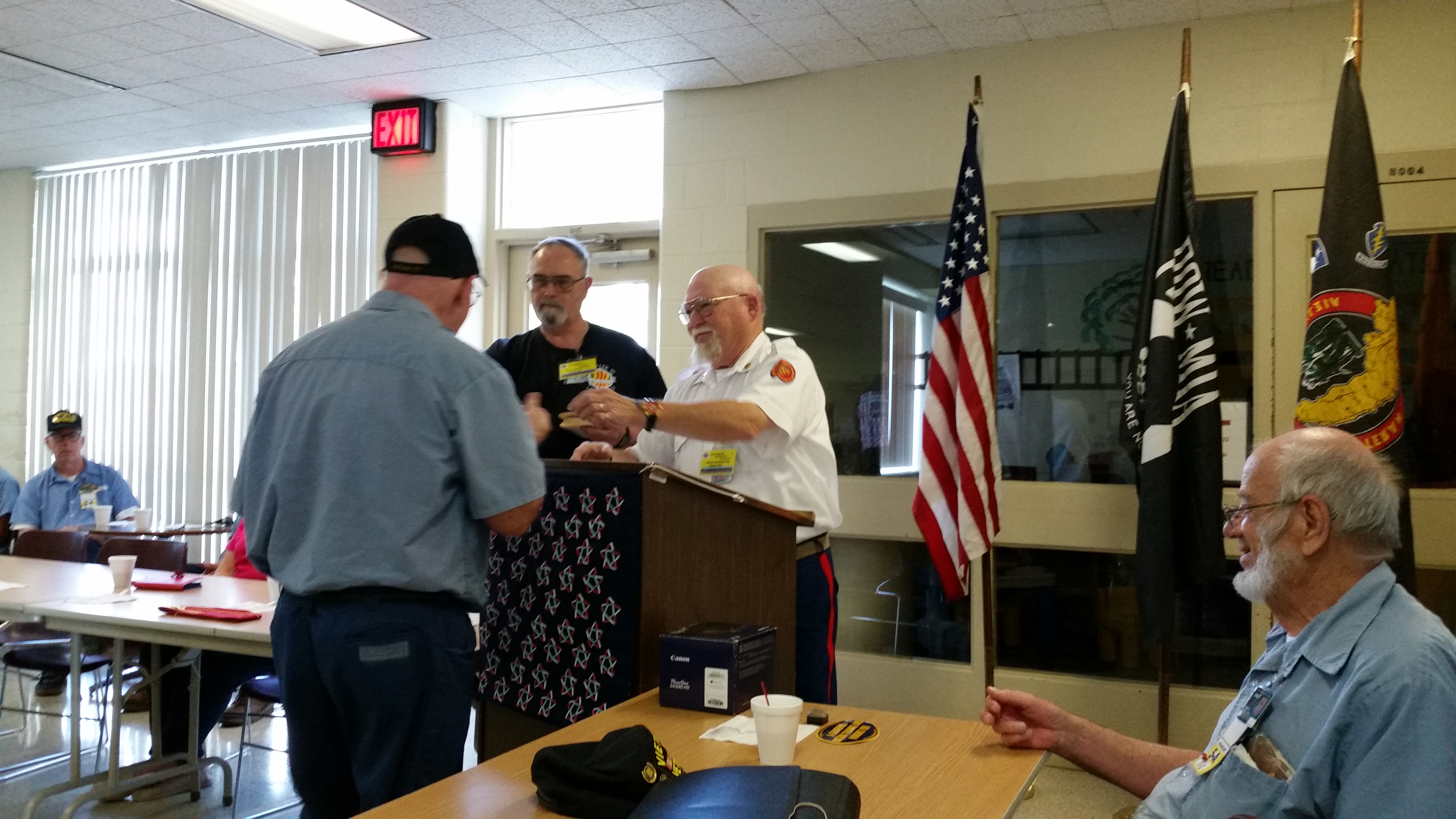 Vietnam Veterans Receive Lapel Pin